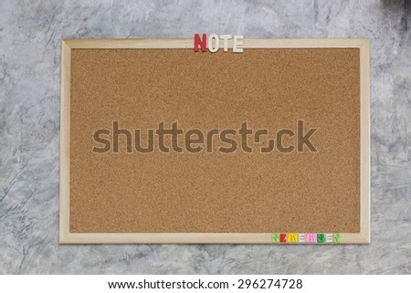 Boards shock notes memoirs. - stock photo