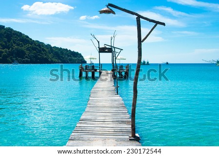 Boardwalk Admire Calm Meditation  - stock photo