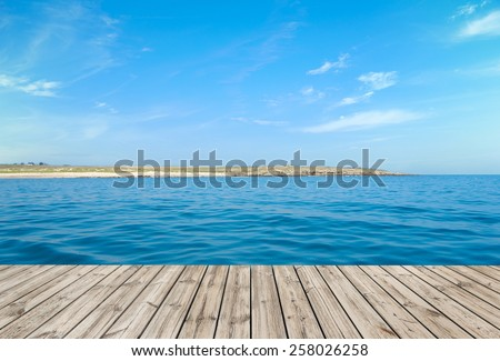 Boardwalk by the ocean, ideal for backgrounds - stock photo