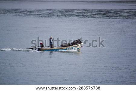 Boat at sea - stock photo