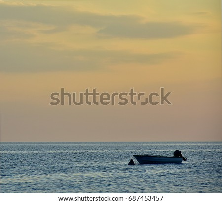 Boat at sunset