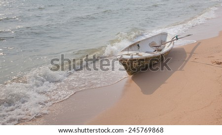boat at the beach  - stock photo