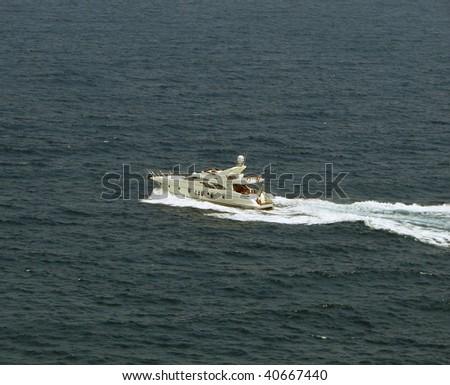 Boat at the sea - stock photo