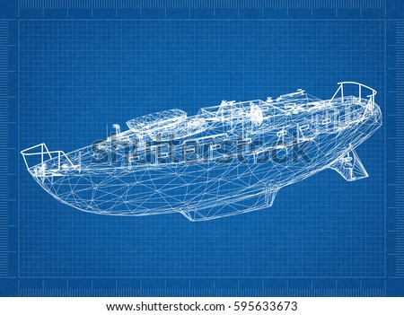 Boat blueprint 3 d perspective stock illustration 595633673 boat blueprint 3d perspective malvernweather Gallery