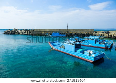 Boat Dock on shore - stock photo