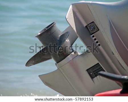 boat engine. boat petrol engine. gasoline boat motor. - stock photo