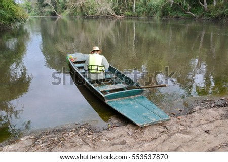 Boat for rafting at Kaeng Bang Rachan,Phetchabun Province,Thailand.