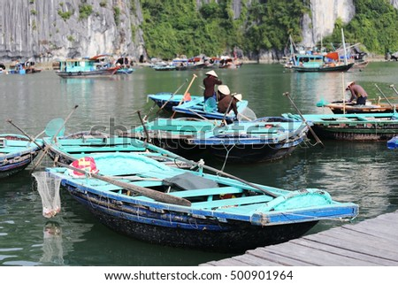Boat hire for tourists in Ha Long Bay