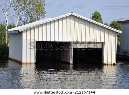 Boat house - stock photo