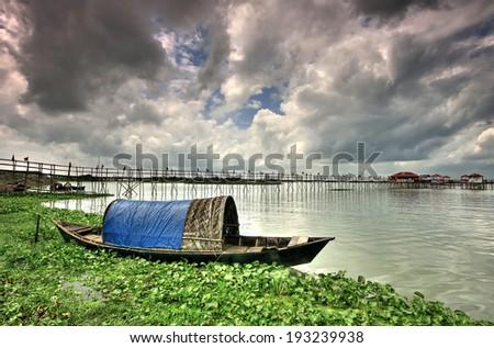 Boat in Bangladesh - stock photo