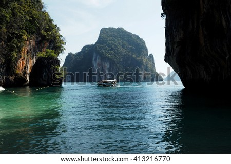 Boat in the sea at Krabi south of Thailand