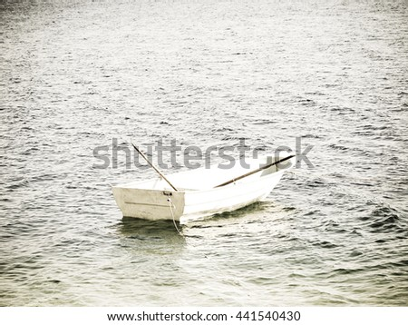 boat in the water  - stock photo