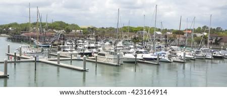 Boat Marina at St. Augustine, Florida - stock photo