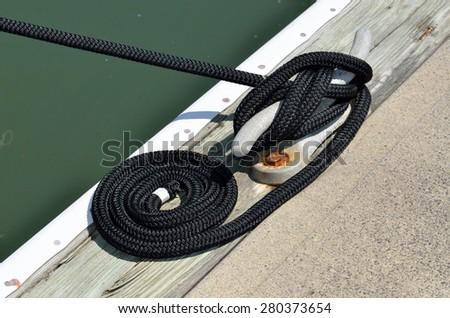 Boat mooring at marina Florida, USA. - stock photo