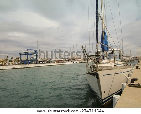 Boat on a dock - stock photo