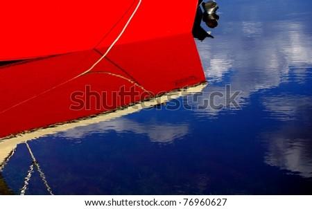 Boat on Lake Bonney - stock photo
