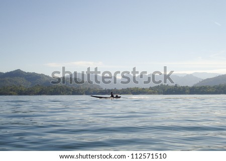 Boat on river in Thailand