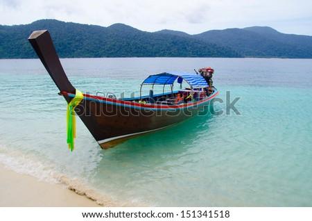 boat on sea - stock photo