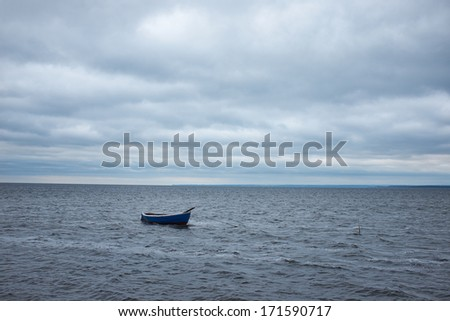 Boat on the Baltic sea.