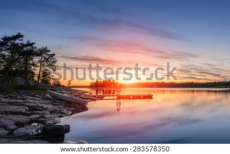 Boat on the Baltic Sea - stock photo