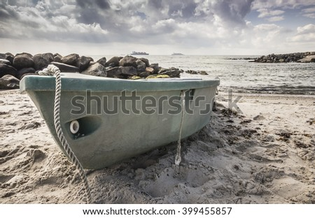boat on the beach