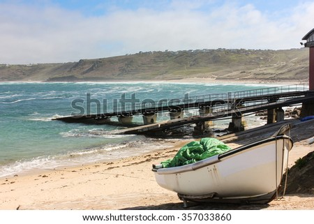 Boat on the beach at Sennen
