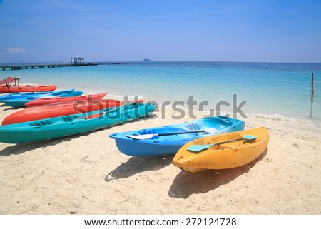 boat on the beach with sea