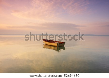 Boat on the lake - stock photo