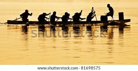 Boat Regatta Silhouette - stock photo