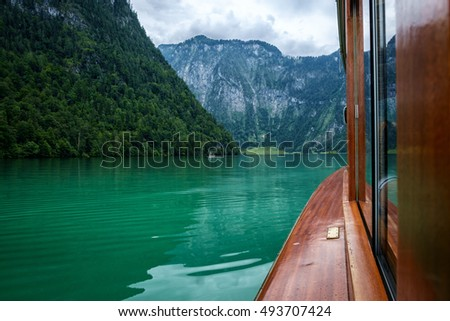Boat ride across the Koenigssee