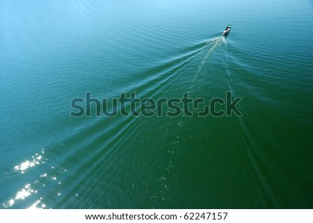boat  river running through a river. - stock photo