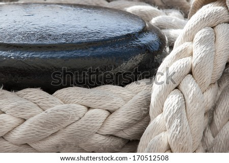 boat rope - stock photo