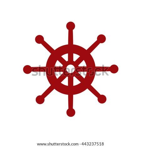 Boat's Wheel - stock photo