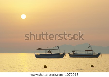 Boat silhouette at sunrise  2