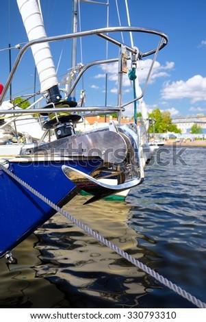 Boat stern - stock photo