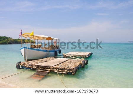 boat to the Kham island, Cholburi, Thailand