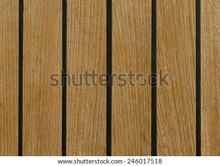 boat wooden deck made from teak - stock photo