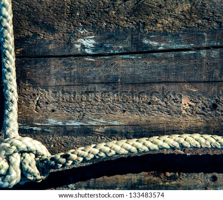 boater's rope on dock - stock photo