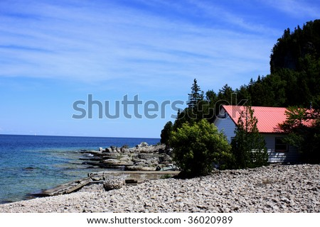 Boathouse View - stock photo