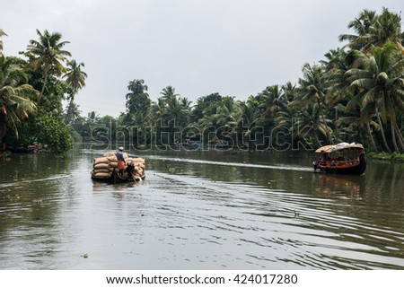 Boatride in Alleppey