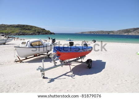 boats and beach