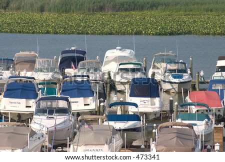 Boats at a dock - stock photo