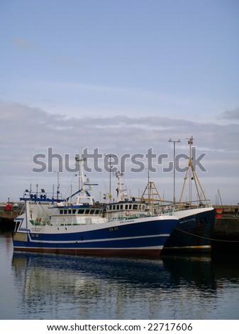 Boats docked at Howth Harbor in Dublin, Ireland - stock photo