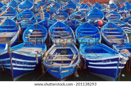 Boats.Essueirra city ( Unesco heritage).Morocco