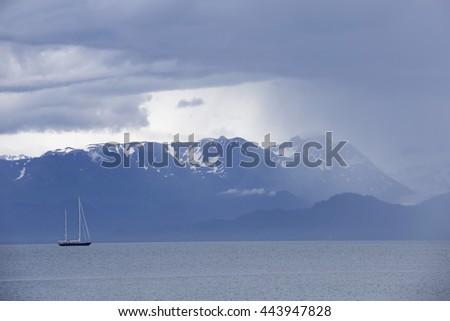 Boats in Alaskan waters - stock photo