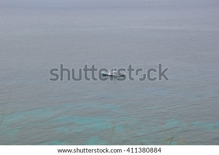 Boats in Chatham bay and wafer bay, Cocos Island, Costa Rica