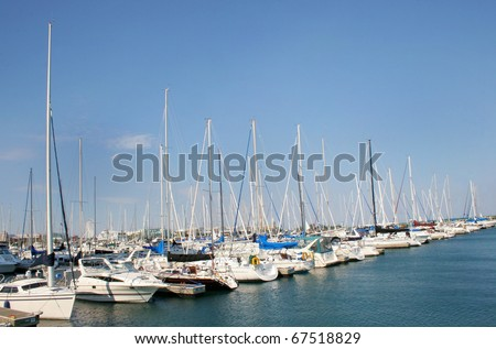 Boats In Chicago Harbor