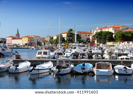 Boats in marina - Porec on Istria peninsula, Croatia