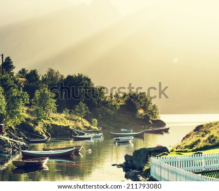 boats in Norway - stock photo