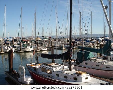 boats in san francisco - stock photo